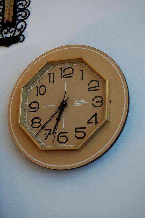 Pendule murale vintage horloge VEDETTE années 60