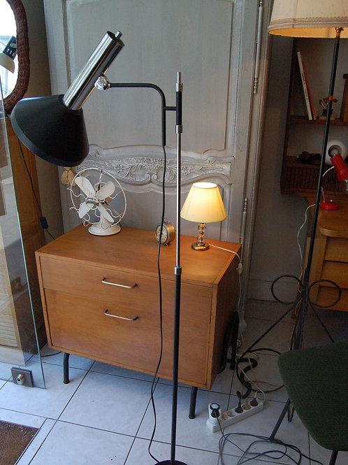 VENDU/Lampadaire années 60 grand réflecteur à rotule métal