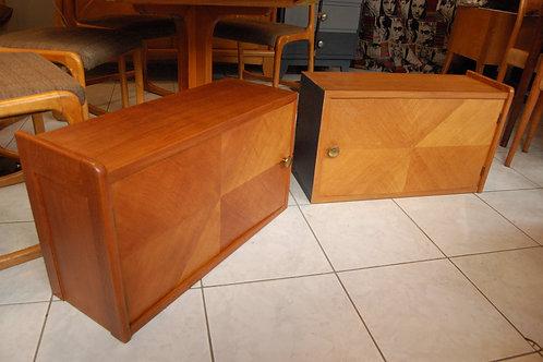 VENDU/2 tables de chevet vintage bouts de canapé années 60