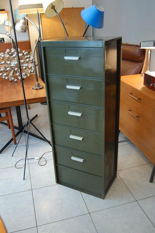 VENDU/Meuble métallique 5 clapets années 60 vert wagon