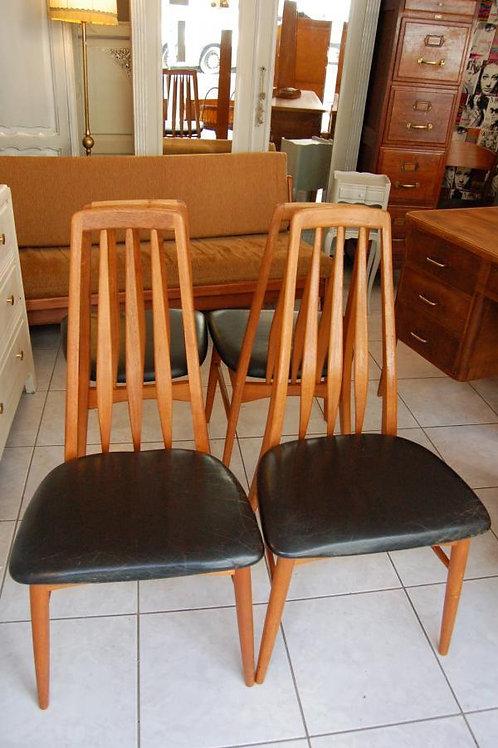 """VENDU/4 chaises scandinaves """"Eva"""" Niels Koefoed"""