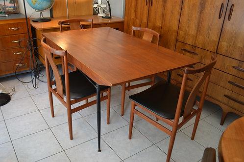 VENDU/Table rectangulaire vintage 50 60 Henri Lancel pour Primavera pieds compas