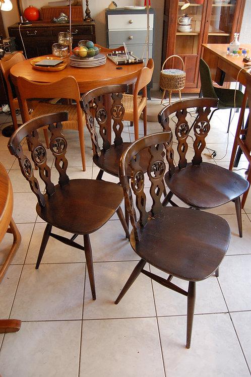 VENDU/4 chaises Ercol Windsor vintage années 60 mod.375