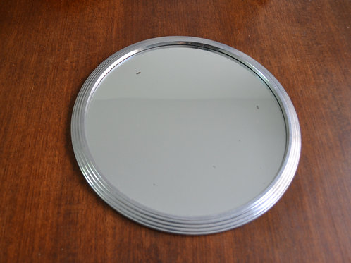 Plateau miroir  aluminium années 60