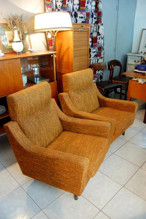 VENDU/2 fauteuils années 70 orange