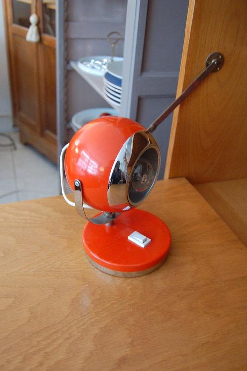 VENDU/Lampe eye ball années 60 70 métal orange