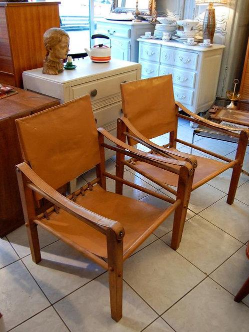 VENDU/2 fauteuils Safari vintage style Klint Kaare