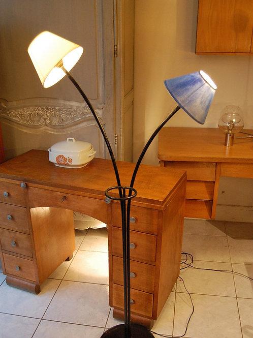 VENDU/Lampadaire vintage métal porte plante 2 feux