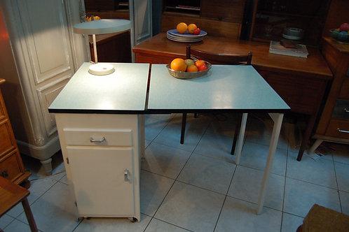 VENDU/Table formica pliante vert 50 buffet vintage