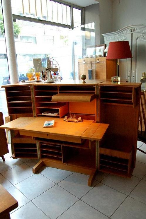 VENDU/Bureau malle dit Magic Box scandinave 50s
