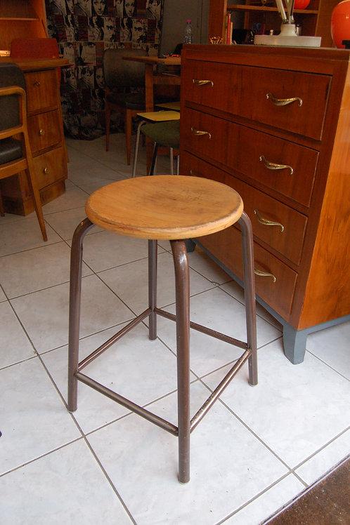 VENDU/Tabouret d'atelier années 60 70 vintage bois métal
