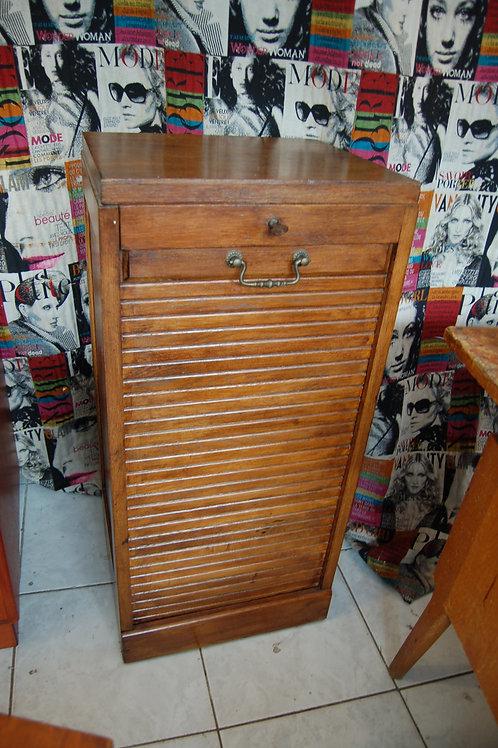 VENDU/Meuble à rideau années 40 50 rangement chêne
