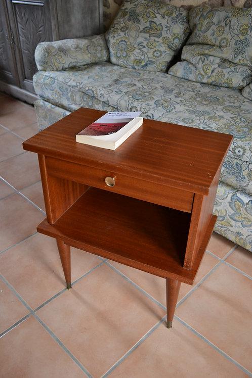 VENDU/Table de chevet vintage années 70  acajou massif,