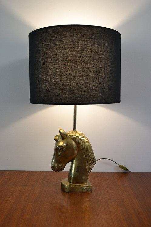 PROMO/Lampe Cheval en bronze signé, numéroté de Léon Bureau fin XIXe
