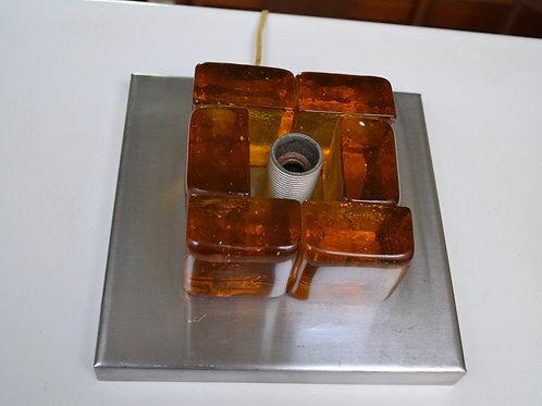 Applique en verre Albano Poli pour Poliarte années 70