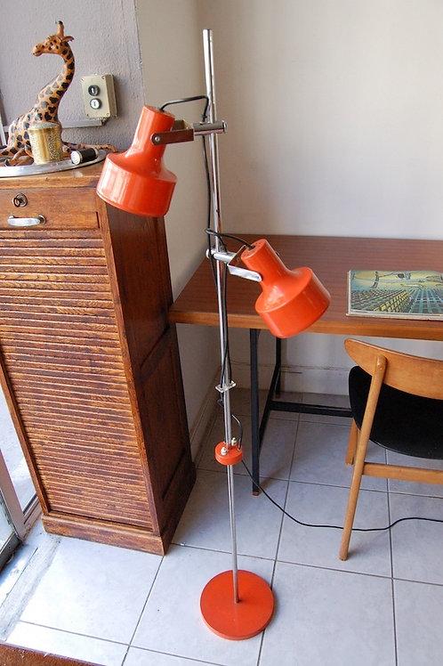 VENDU/Lampadaire vintage 3 spots orange 70s