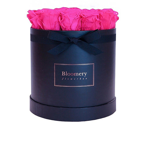 HOT PINK Infinity Rosen in LARGE Flowerbox
