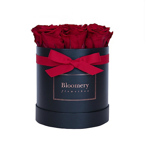 PASSION ROYAL RED Infinity Rosen in MEDIUM Flowerbox