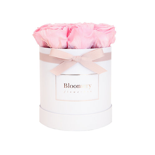 BRIDAL PINK Infinity Rosen in MEDIUM Flowerbox