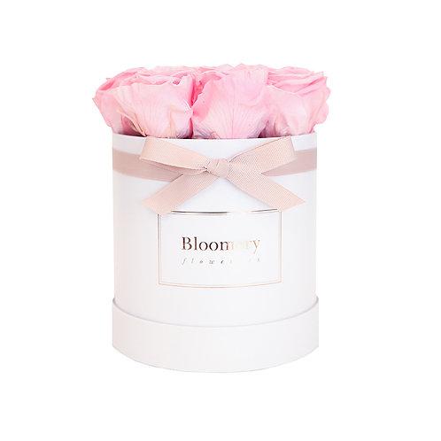 BRIDAL PINK Infinity Rosen in MEDIUM Flowerbox