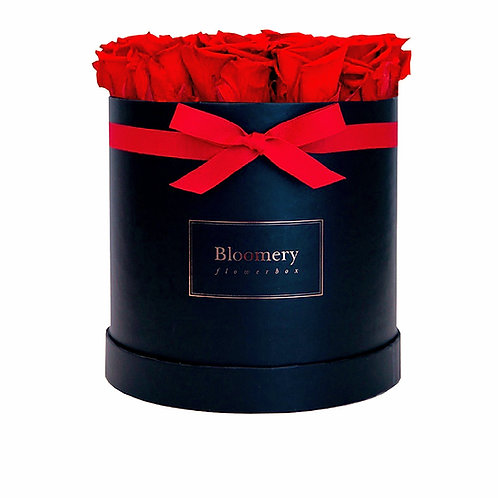 VIBRANT RED Infinity Rosen in LARGE Flowerbox