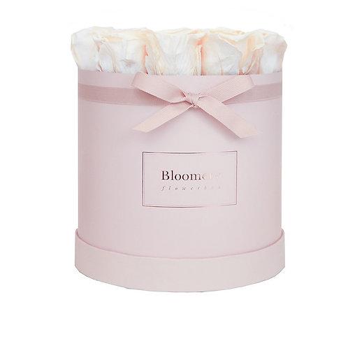 PEARL WHITE Infinity Rosen in LARGE Flowerbox