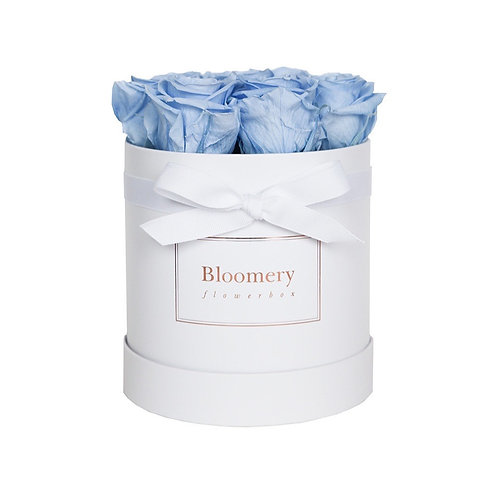 BABY BLUE Infinity Rosen in MEDIUM Flowerbox