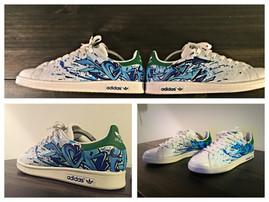 Adidas Stan Smith graffiti street art