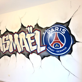 graffiti Ismael PSG