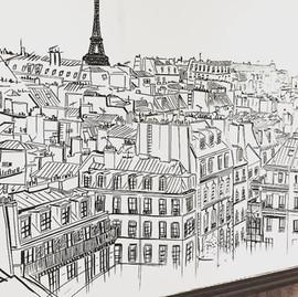 fresque toit de Paris