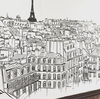 fresque toit de Paris