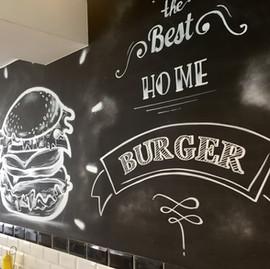 Vintage Black board Burger