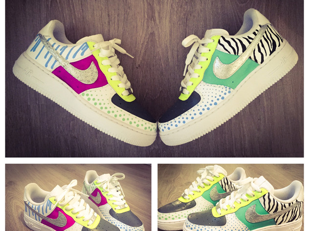 Nike AIR force 1 graffiti