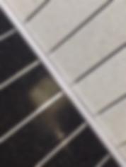 Cladding with chrome stripe