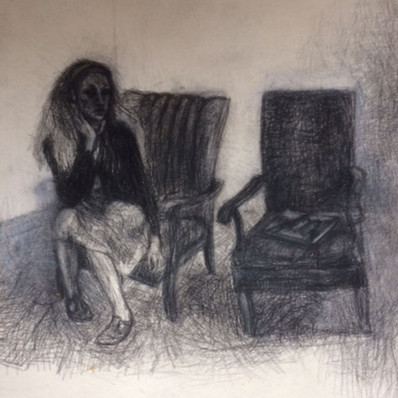 self with empty chair