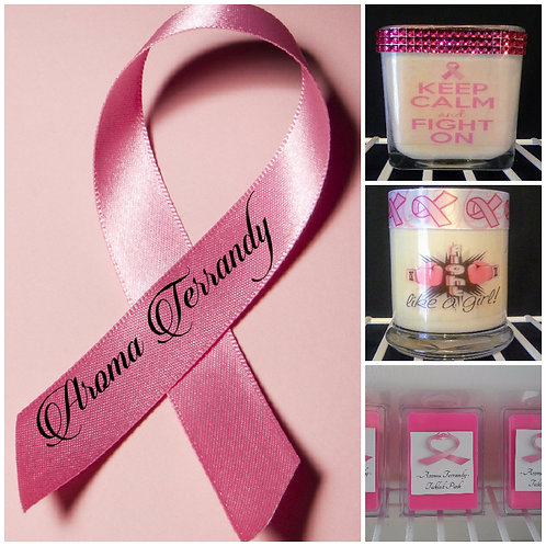 Breast Cancer Awareness Aroma Candle - Square