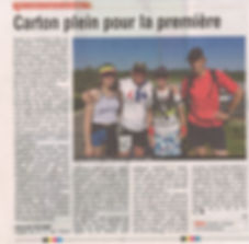 Article de Sudpresse sur les Trails Lesse et Meuse sauvages