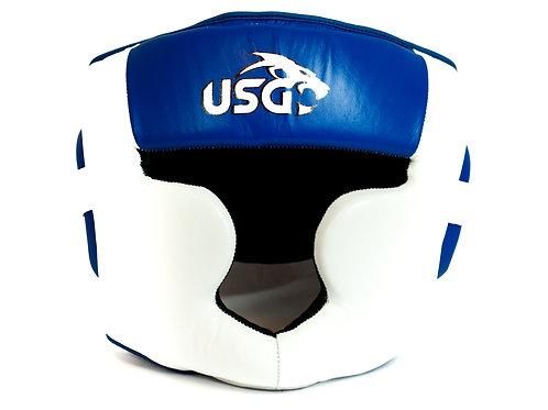 USG White and Blue Full face headgear