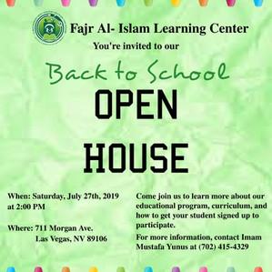 Fajr Al-Islam open house this Saturday!