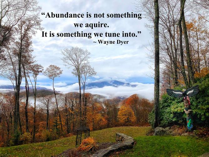 Abundance is not Something We Aquire, It is Something we Tune Into
