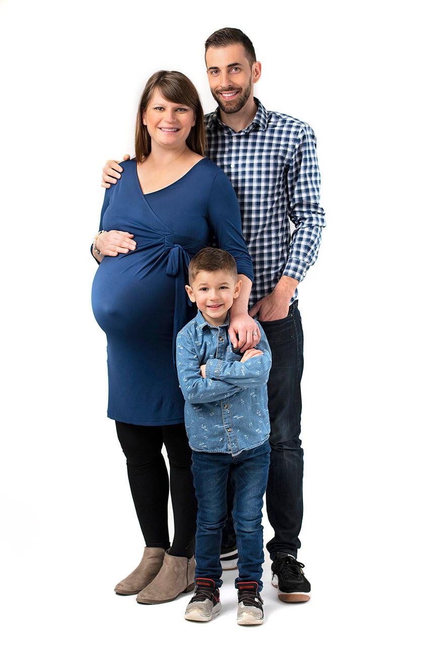 Professional studio maternity portrait