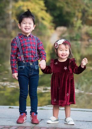 Outdoor portrait of siblings