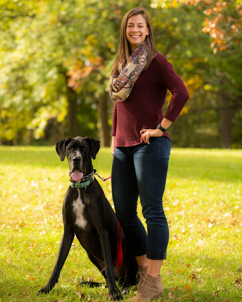 Outdoor Professional Portrait of a woman and her dog