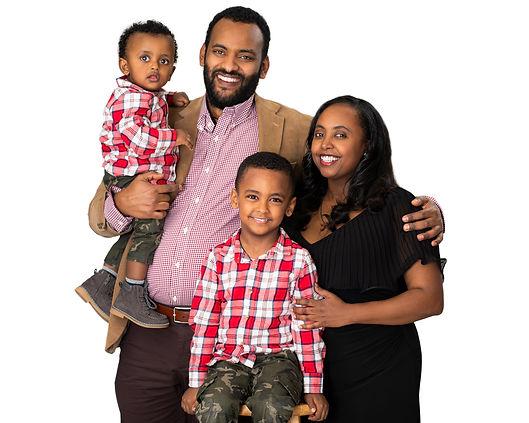 Professional Studio family portrait