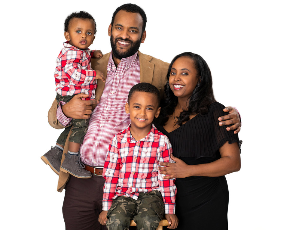 Professional studio family portraits