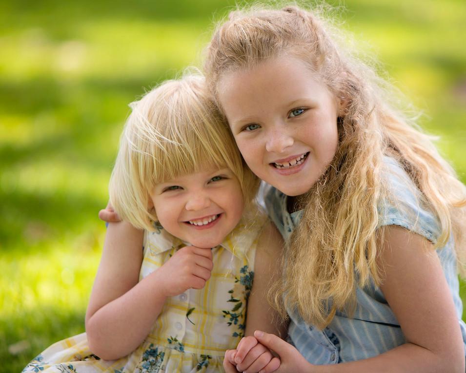 Professional portrait of siblings
