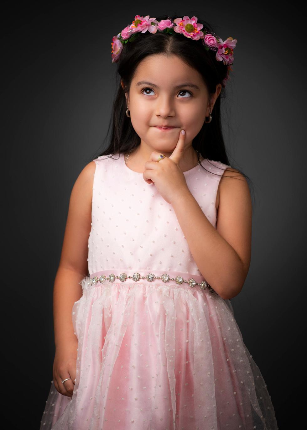 Professional portrait of a little girl