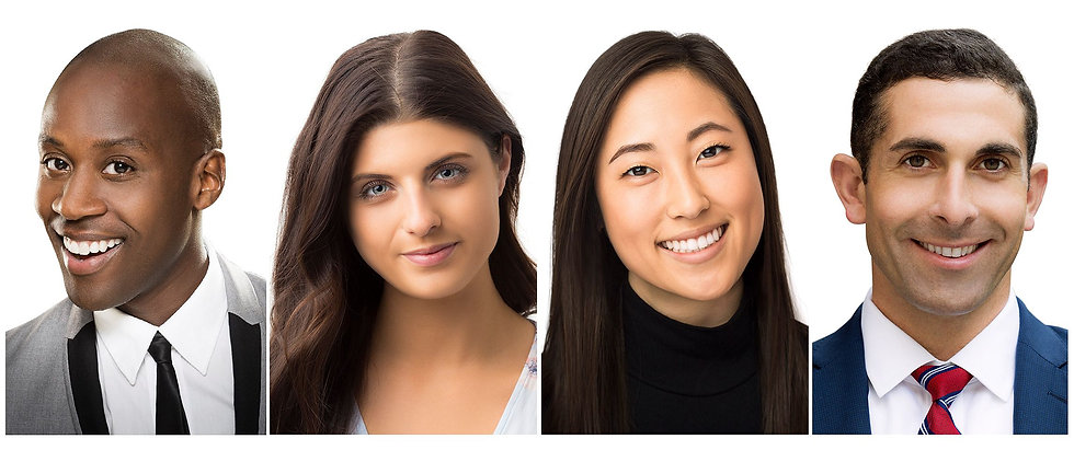 Professional Headshots of young men and women