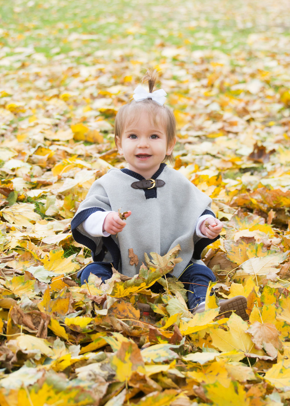 Professional outdoor portrait of a toddler