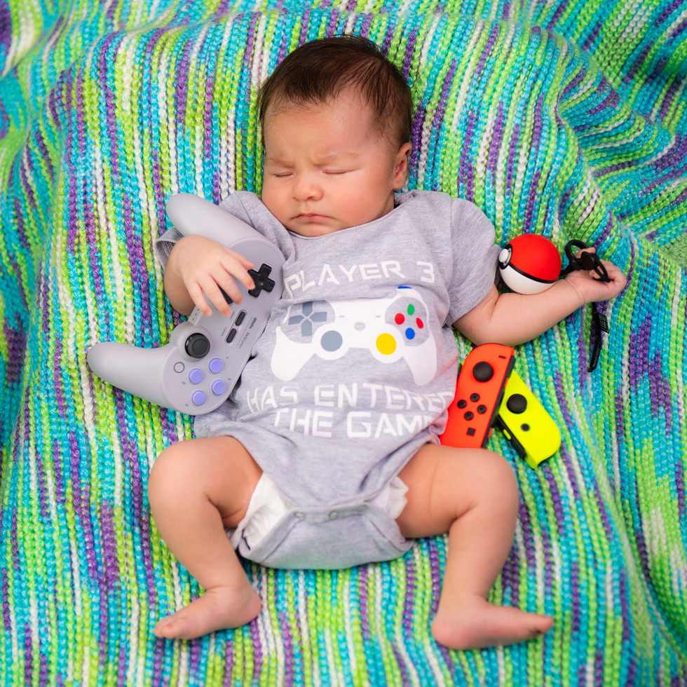 Professional portrait of a newborn while sleeping